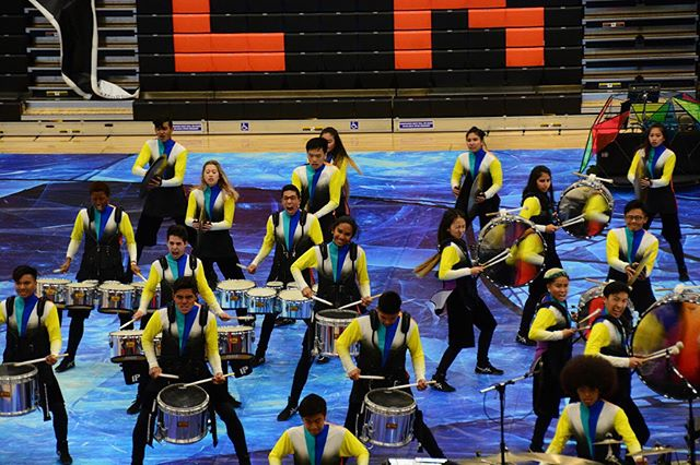 March Fourth! 🎶- - - #march4th #marchfourth  #drum #drumline #drums #pit #marchingband #percussion #music #marchingpercussion #wgi #ncpa #dci #winterpercussion #california #wgipercussion #2018 #highschool #show #drummer #cymbals #quads #team #winter #bass #snare #team #blue #photography