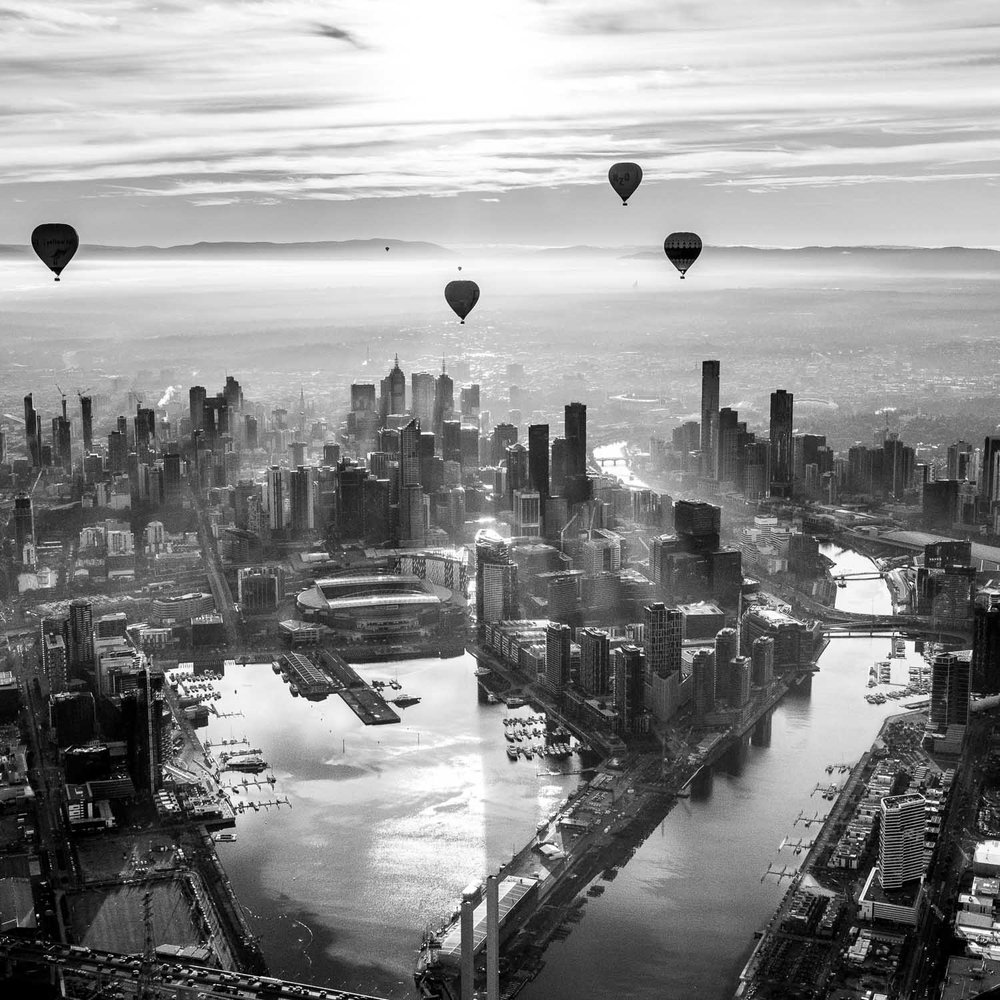West Side Melbourne Sunrise - From a hot air balloon. — Francesco ...