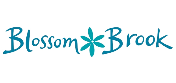 I drew the flower logo design and typography by hand for Blossom Brook - a local Photography Studio.
