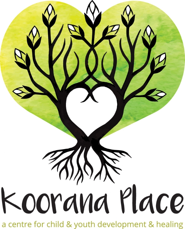 "I drew the Budding Tree for this Logo for a Youth Centre ""Koorana Place"" on the Central Coast of New South Wales, typography and watercolour treatment by Jennifer of keen design.com.au."
