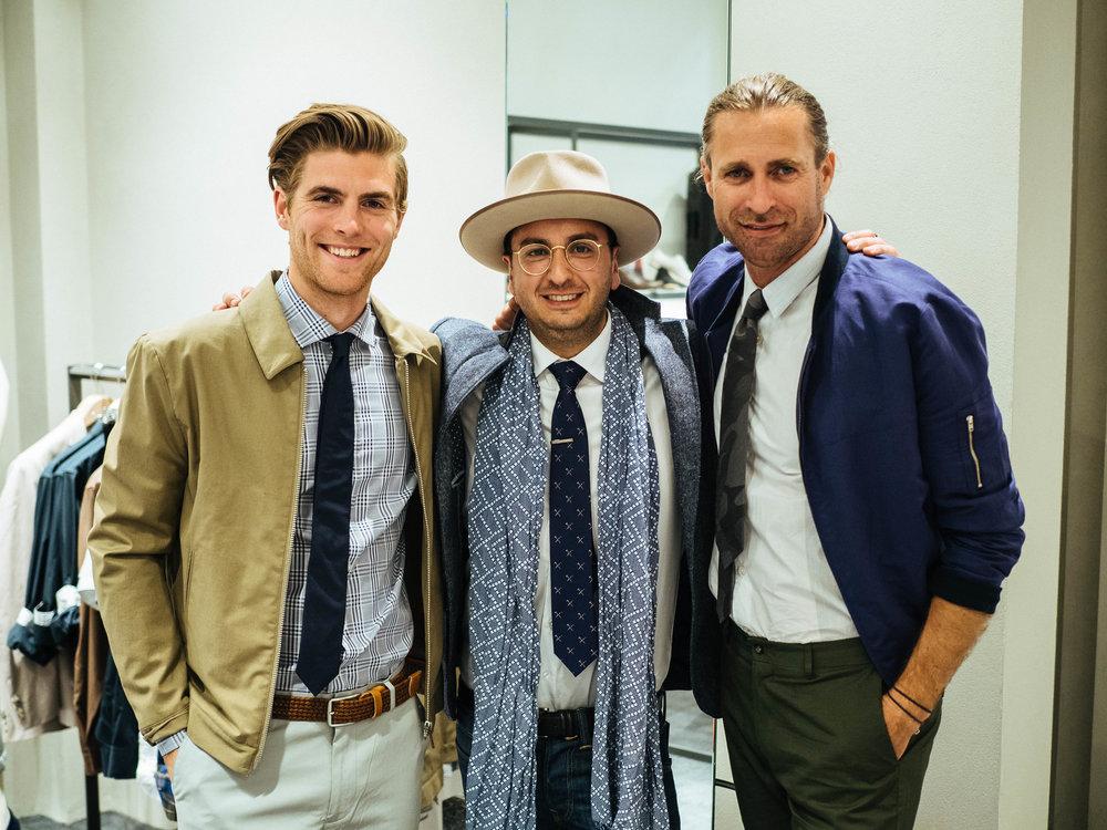 From left: Sam Wines, myself & Jeff Lack