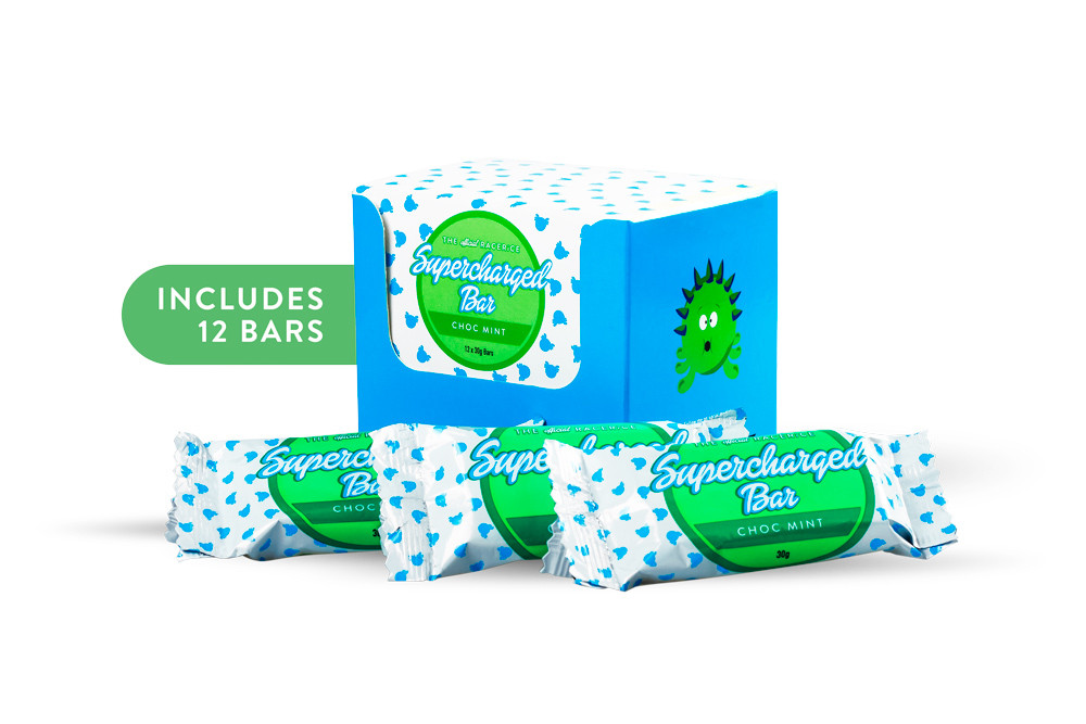 Supercharged - Choc Mint Bars (12 pack) - RACERiCE