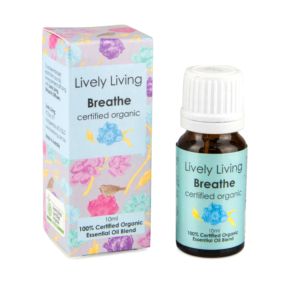 Lively Living - Organic 100% Pure Essential Oil - Breathe