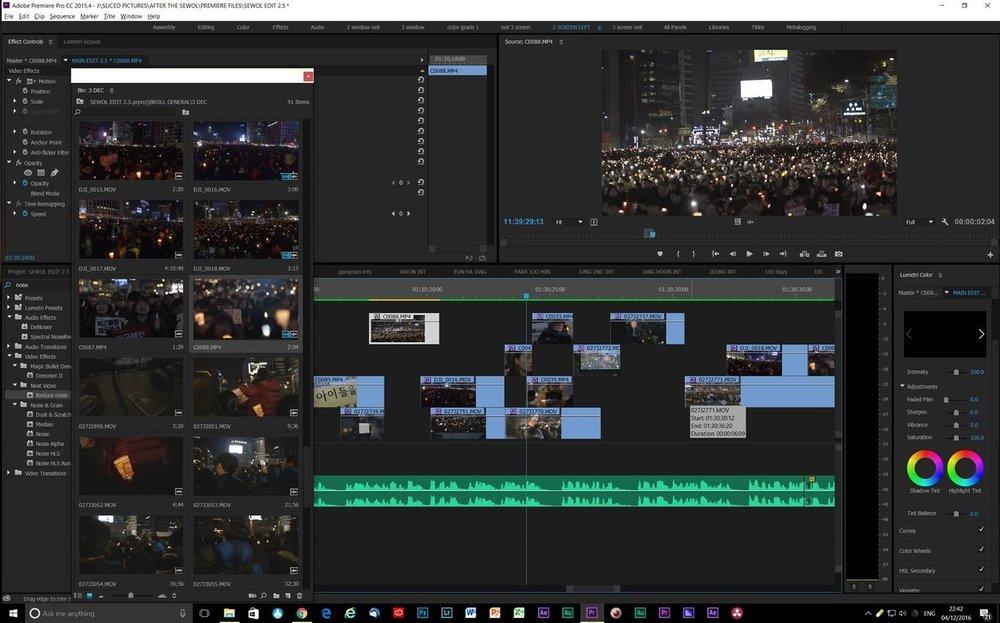 Editing continues.