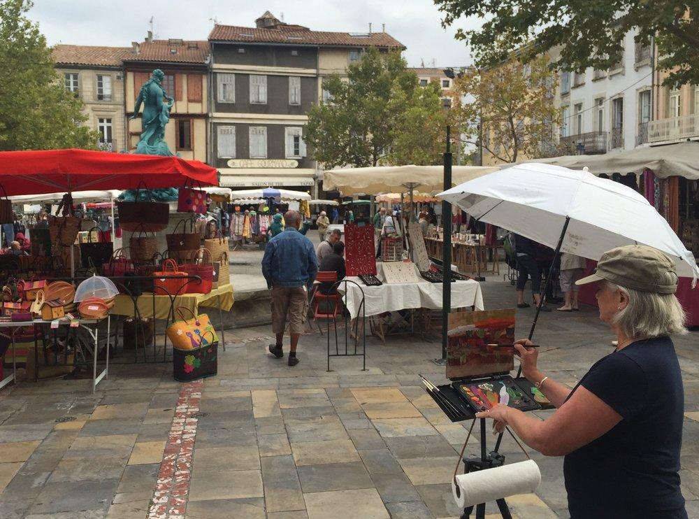 Lori teaching in France