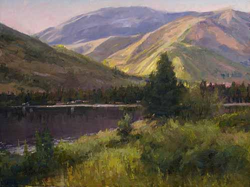 Rosebud Dawn - Painting by Howard Friedland
