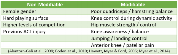 Figure 3. ACL risk factors.
