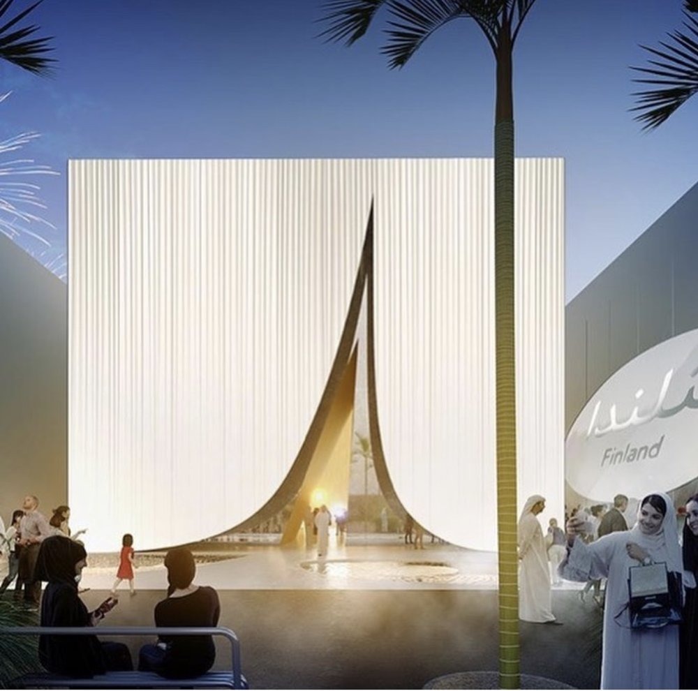 "Innovative business solutions will be promoted in Finland's ""Snow Cape"" Pavilion during Dubai Expo2020."