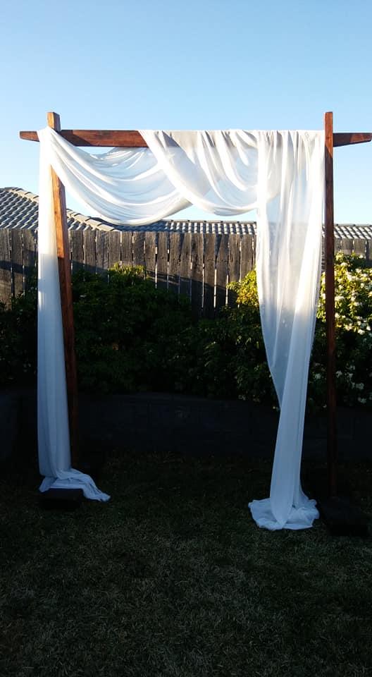 Wedding Arch with Fabric