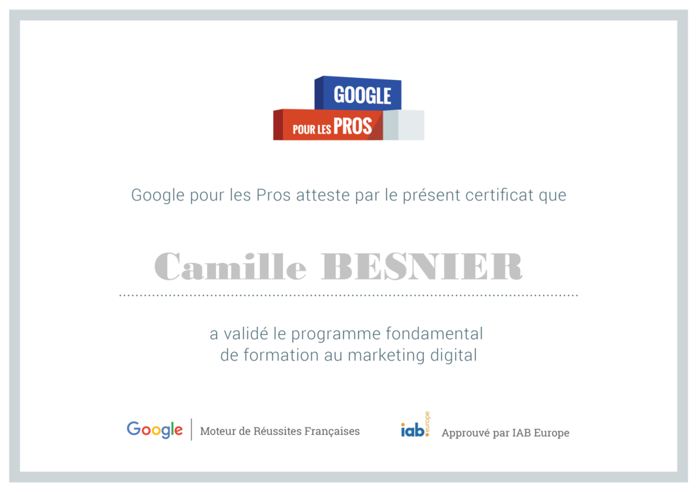 Certification Google Marketing Digital