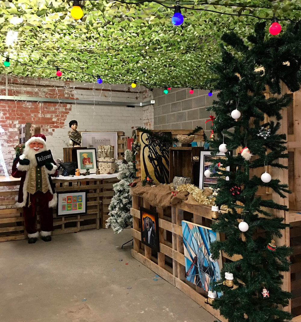 Handmade stalls ready for the Christmas at Humber Street events, running every weekend until Sunday, December 23.