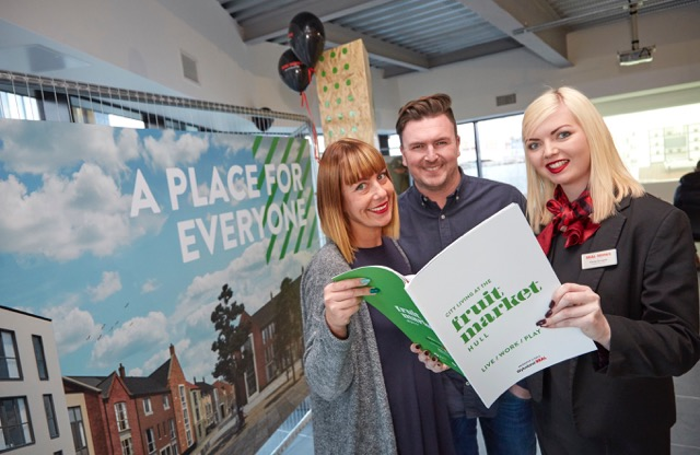 Paul and Jemma Eastburn bought a three-bedroom townhouse within 20 minutes of arriving at the launch event.