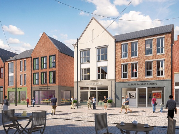 The development includes apartments above commercial units in Humber Street in the heart of the Fruit Market.