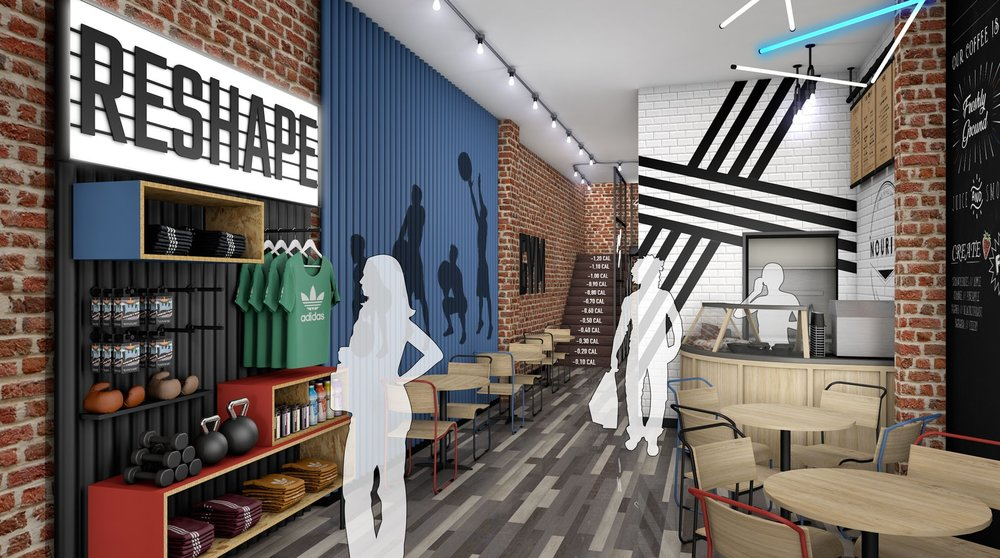 A computer-generated image of the café and shop in the ground floor of The Temple @ Humber Street.Images: The Temple @ Humber Street