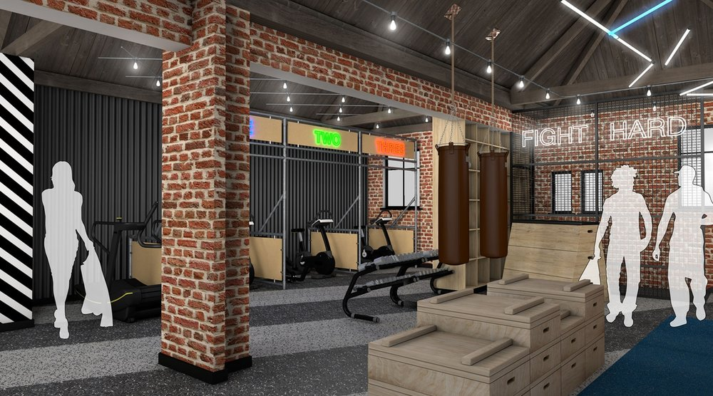 """An image of the upstairs gym in The Temple @ Humber Street, showing the individual """"mini gyms"""".Images: The Temple @ Humber Street"""