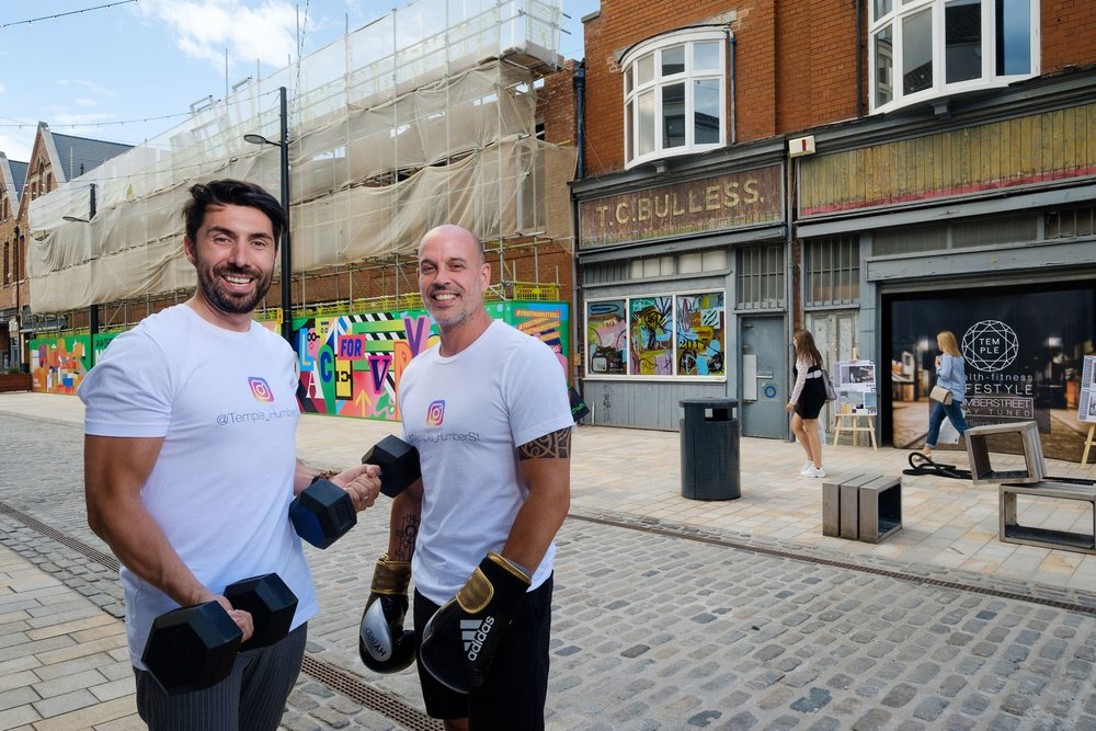Riccardo Seaton, left, and Dale Robinson have come together to launch the latest new entrepreneurial business in Hull's Fruit Market urban village.