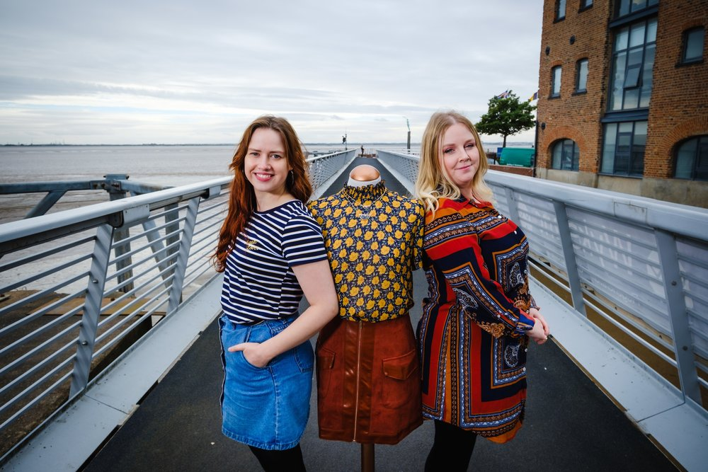 Tessies owner Nicola Gibbons, right, and Manager Anna Carter are looking forward to opening Tessies boutique and creative studio space close to Hull's waterfront.