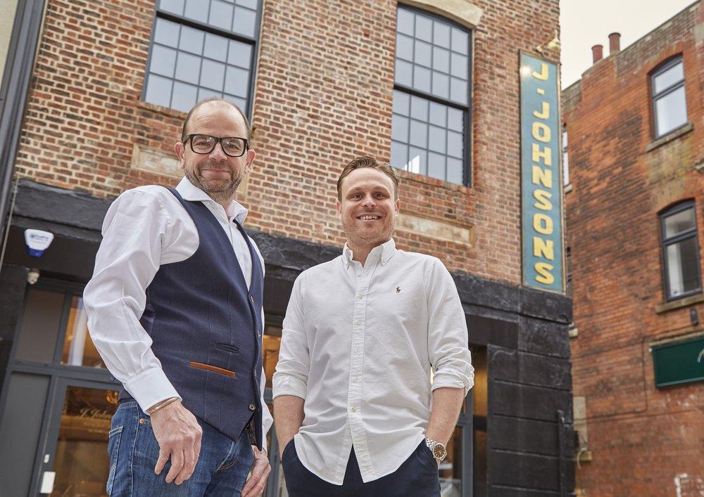 Business partners Chris Eastaugh (left) and Jason Gittens at their new venue, J. Johnsons, in Hull's Fruit Market.