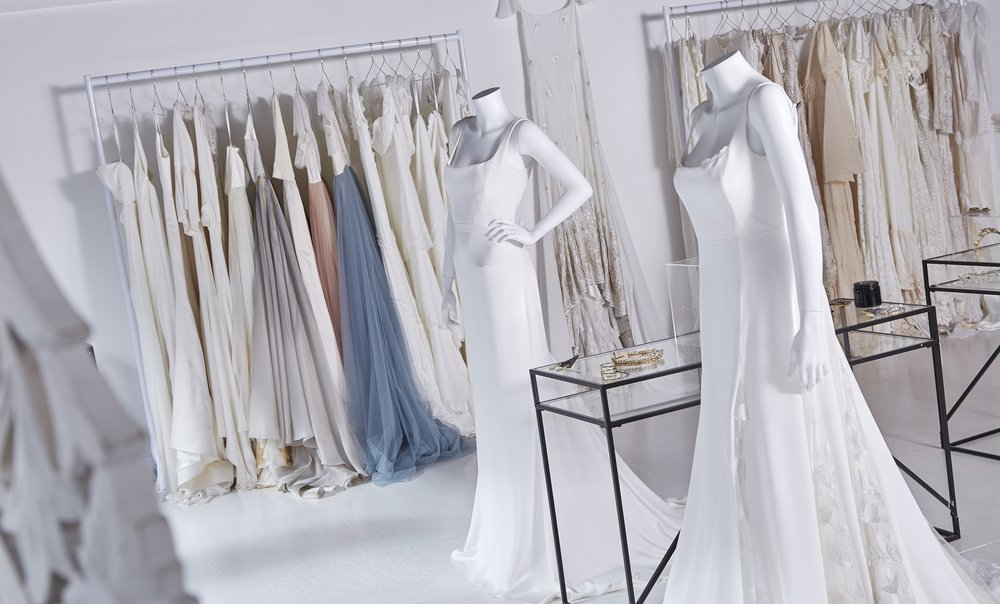 Just some of the designer wedding dresses available to customers at Ghost Orchid Bride.