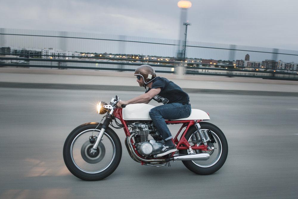 Chauncey Tanton.  1976 Honda CB 550 Cafe Racer Rebuild.