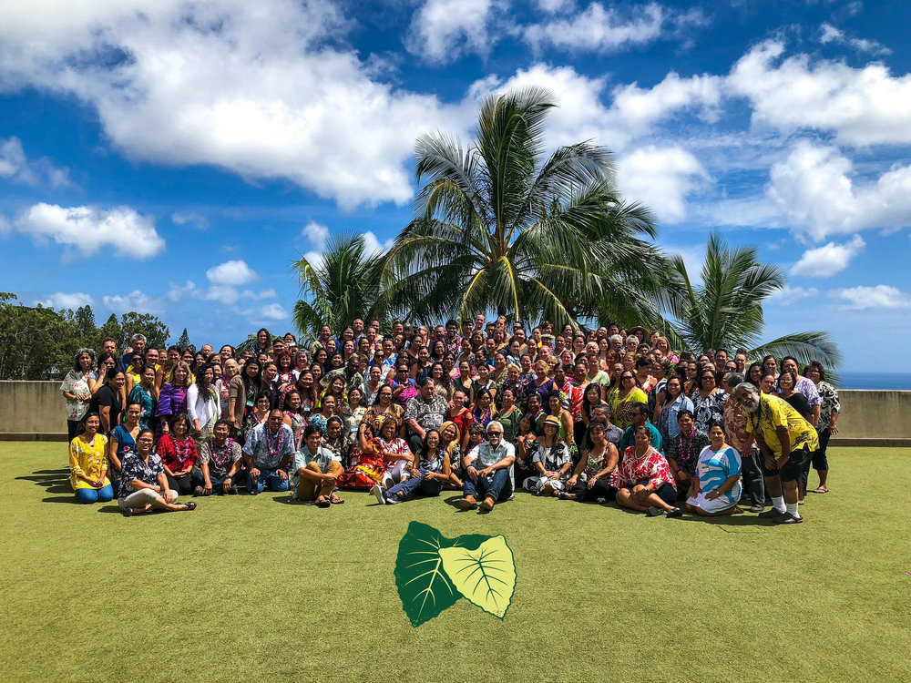 Partners in Development Foundation staff at the annual Holomua gathering .
