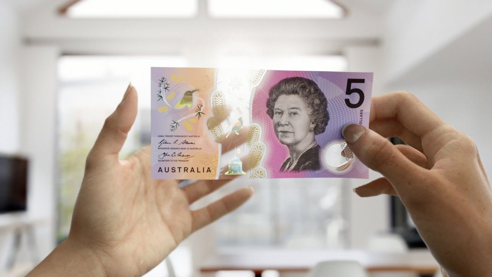 ...to the new Australian five dollar note.