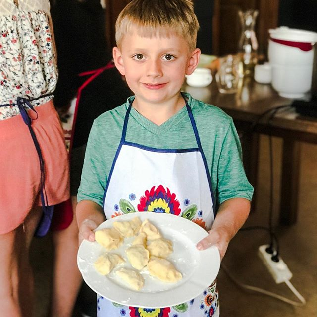 This is Dominic, he was born with the skill of making pierogi.😃❤️ #cookingclass #pierogimakingclass #pierogi #pierogicookingclass #polishdumplings