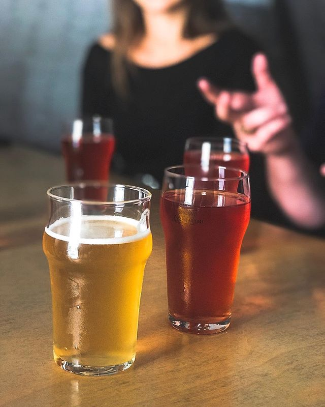 Today on the craft beer tour we tasted Raspberry Gose from @deerbear_brewery and Summer Ale from @craftownia_multitap 🍻 #krakowcraftbeertour #beertastingtour #craftbeertour #deliciouspoland