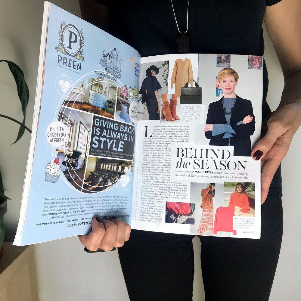 "Image Magazine  Fashion director — Marie Kelly wears Leko & Leko pendant in an article where she explains how she navigates SS17 trends. ""I love the subtle texture and graphic shapes of Leko & Leko's contemporary pendants."""