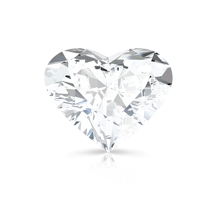 HEART SHAPED DIAMOND FRONT