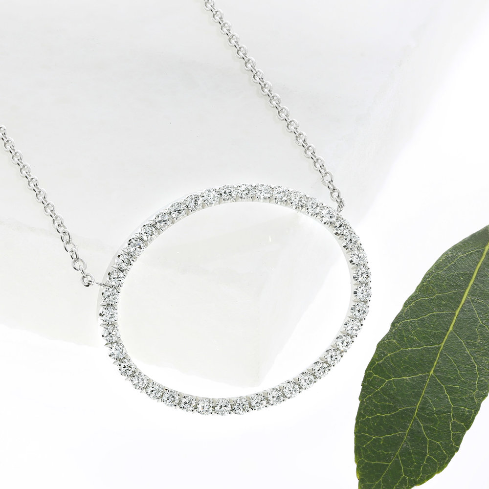 A bespoke diamond pendant by Queensmith