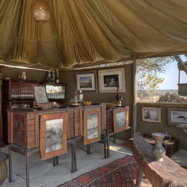 The unique interior of the Meno a Kwena tents  @meno_a_kwena