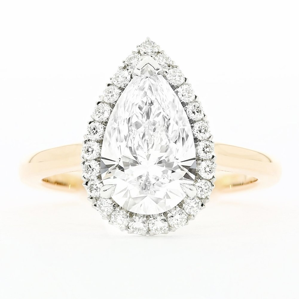 proposal-stories-ideas-pear-diamond-halo-rose-gold-engagement-ring-amazing-romantic-story-australia-beach-engagement-wedding-queensmith-master-jewellers-hatton-garden-london