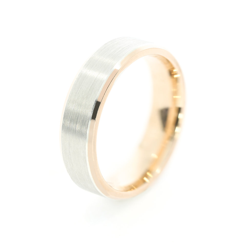 Will Harry shun tradition and wear a wedding band? Pictured:  Custom Men's Wedding Band