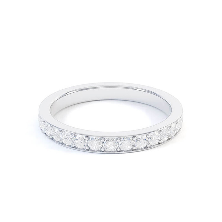 2.4mm Pavé Set Eternity Band , by Queensmith