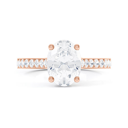 Queensmith's  Oval Tierney Pavé  in 18k Rose Gold