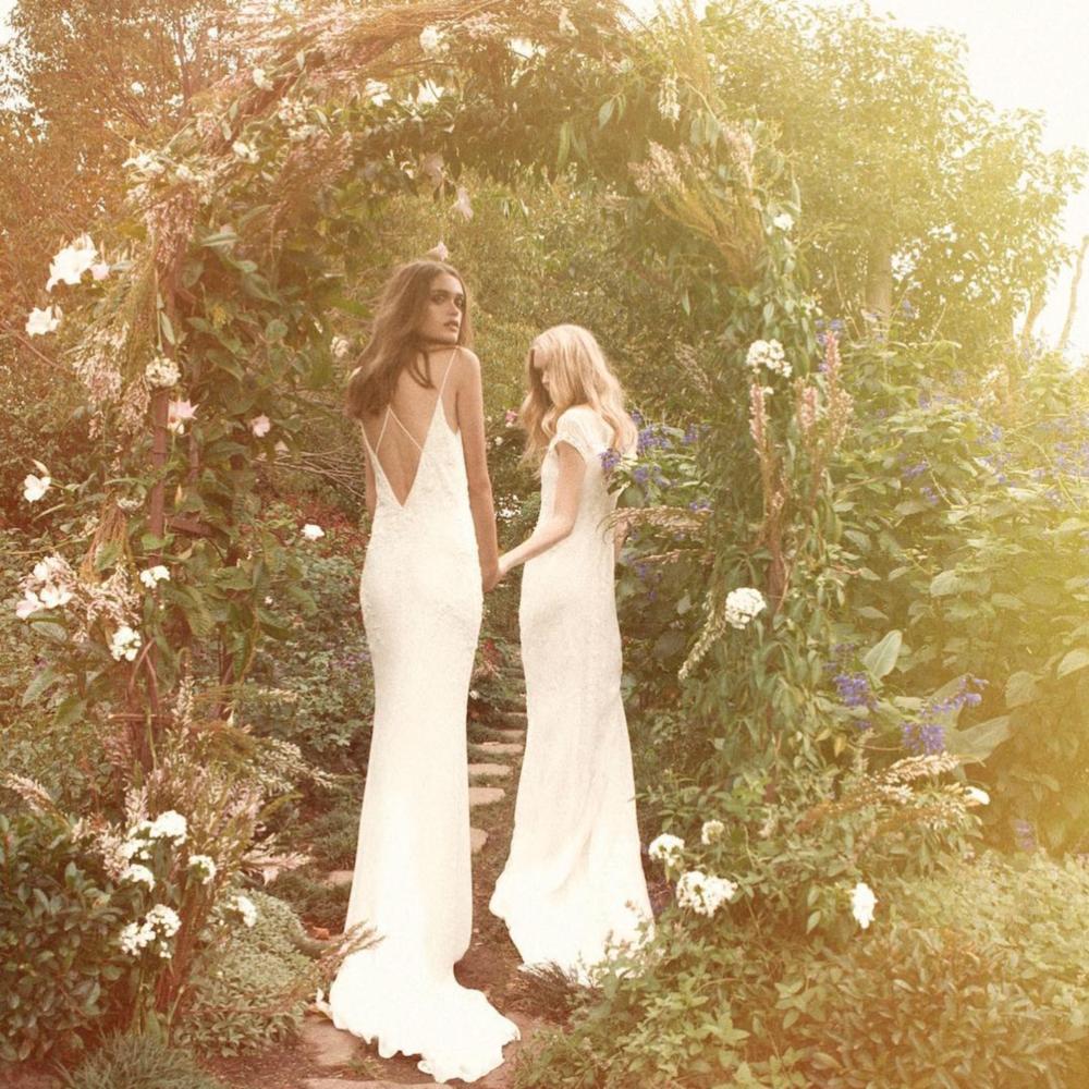 A Summery wedding scene, wedding dresses by Bo & Luca
