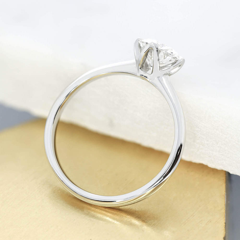 A bespoke  solitaire engagement ring