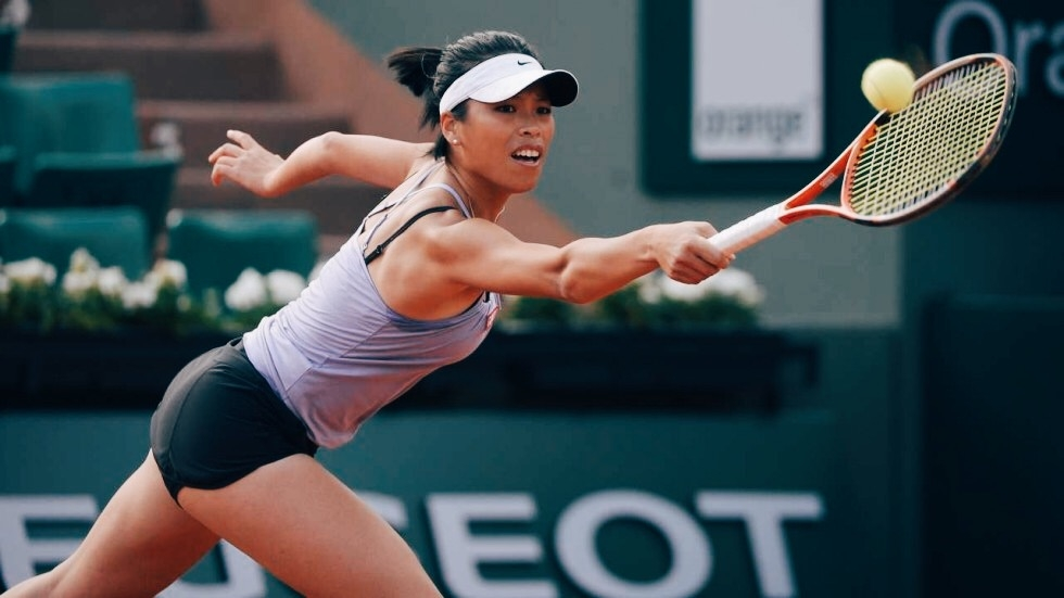 Hsieh Su-wei who defeated Muguruza in mad hot conditions