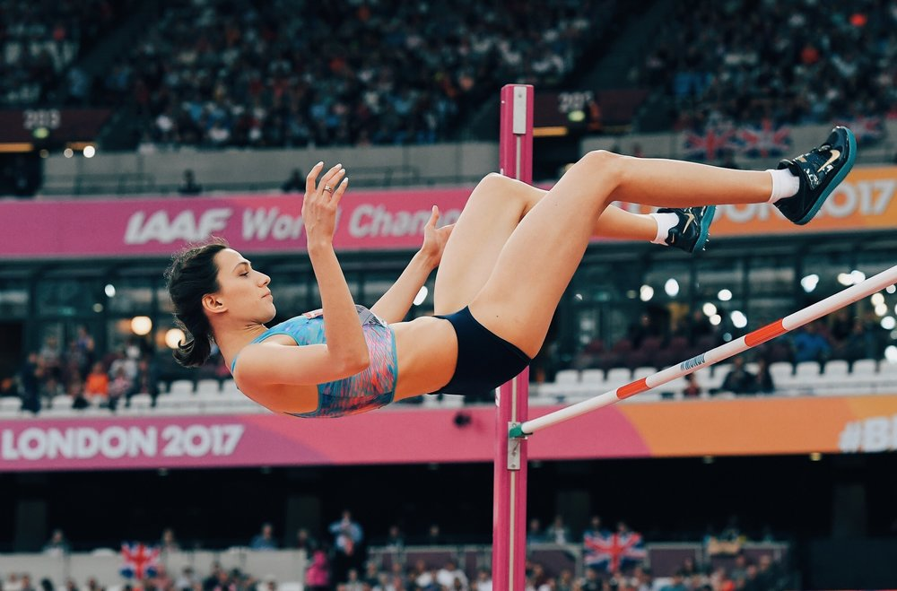 Img: High jump world champ Mariya Lasitskene, one of the cleared athletes