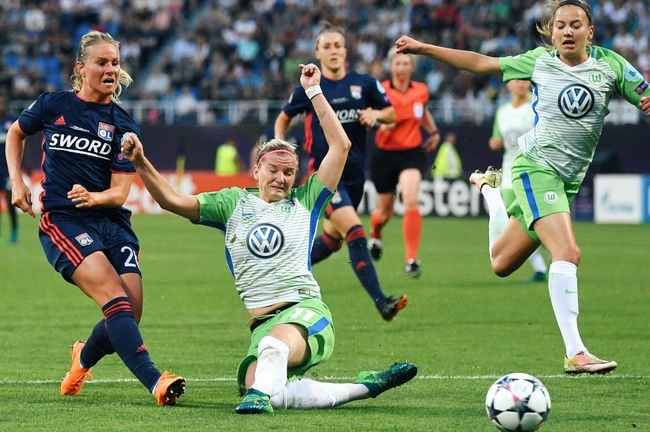 Lyon vs. Wolfsburg in the 2018 final
