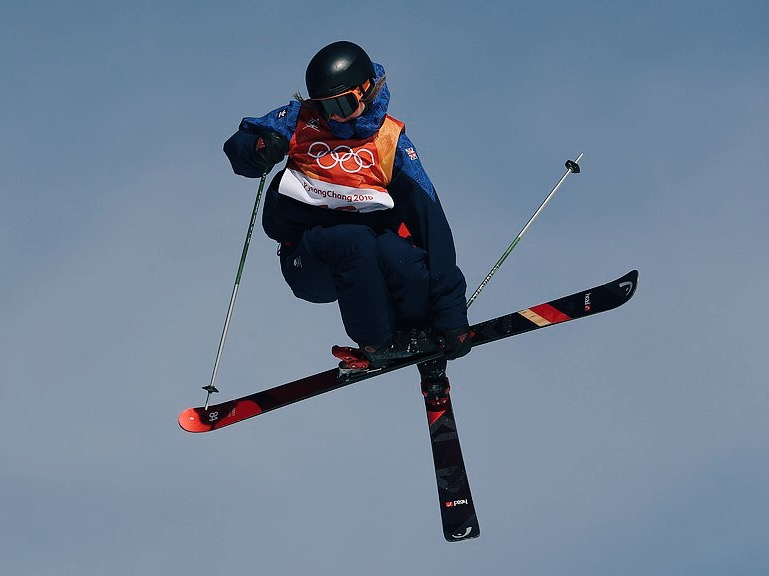 Izzy Atkin in action during the PyeongChang 2018 Olympic Winter Games. Img: PA