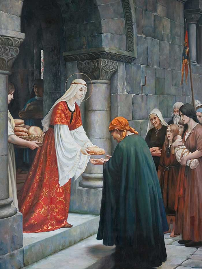 ✞ Od 1228 Tercjarka III Zakonu św. Franciszka ✞ Kanonizowana: 27.05 1235 przez papieża Grzegorza IX ✞ Wspomnienie liturgiczne: 17.11 ✞ Patronka dzieł miłosierdzia