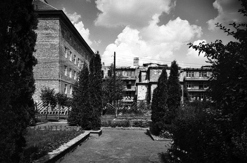 Budynek Szpitala Podczas Rozbudowy 1956 r.