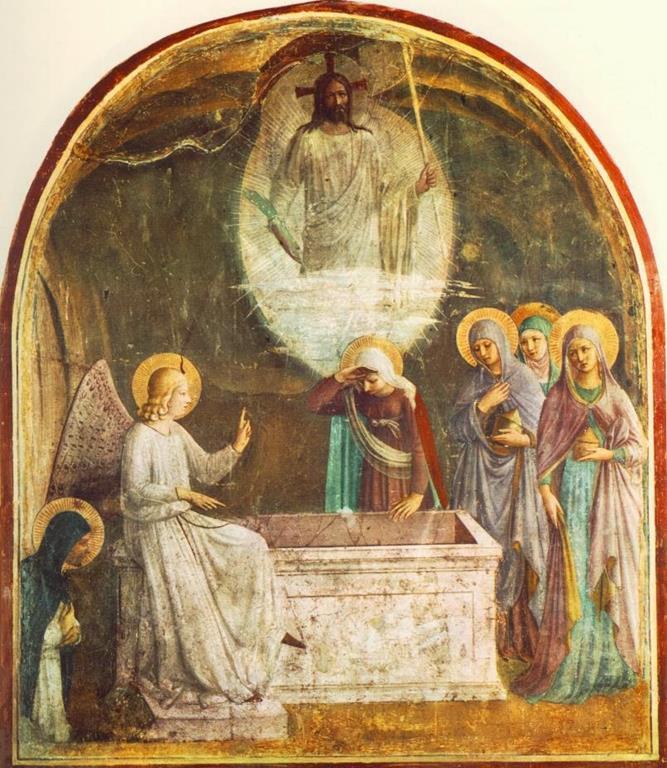 Fra Angelico, Zmartwychwstanie Jezusa i kobiety przy grobie (1440-1441)