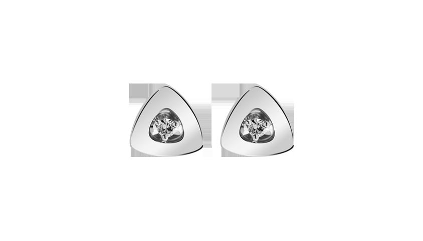 Cosmopolitan Triangle Small Earrings White gold, diamonds