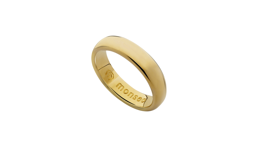 AN0624M - Aliança Moments Collection n.º 4 Aliança em ouro amarelo 19.2 Kt com aro de 4.9 mm de largura. PVP 830 € medidas 12-14 PVP 920 € medidas 18-23