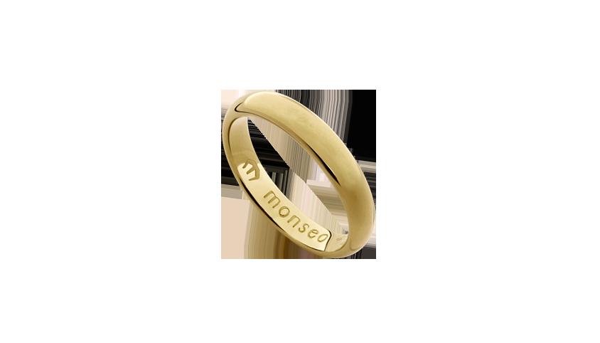 AN0626M - Aliança Moments Collection n.º 2 Aliança em ouro amarelo 19.2 Kt com aro de 3.7 mm de largura. PVP 530 € medidas 12-14 PVP 570 € medidas 18-23