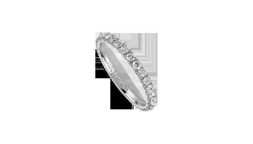 AN2460 - Aliança Moments Collection Aliança em ouro branco 19,2 kt. com 29 diamantes lapidação brilhante com 1 ct. PVP 2,800 €