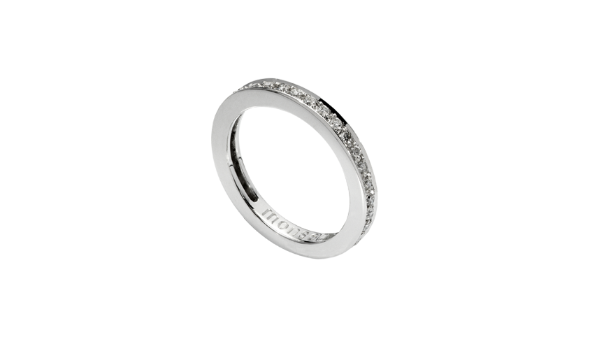 AN1660 - Aliança Moments Collection Aliança em ouro branco 19,2 kt. com 34 diamantes lapidação brilhante com 0,42 ct. PVP 1,840€